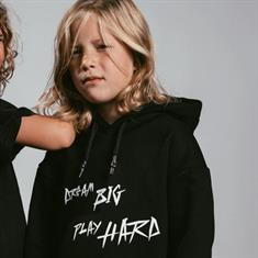 AH6 kids Dropshoulder hoody Zwart dessin