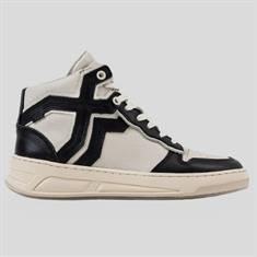 Bronx Old-cosmo high top Zwart dessin