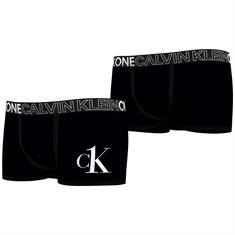 Calvin Klein Boys 2 pk trunks black Zwart