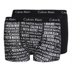 Calvin Klein Boys Trunk 002 black pr/ black Zwart dessin