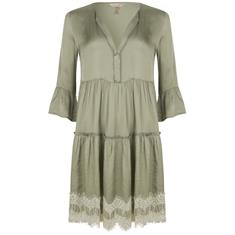 Esqualo Dress satin lace Mintgroen