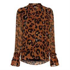 Fabienne chapot Carmen blouse leopatra Bruin dessin
