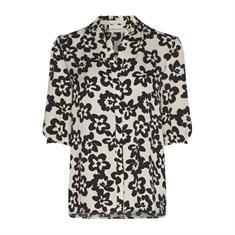 Fabienne chapot Kim blouse cream white/black Creme