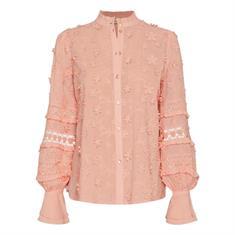Fabienne chapot Leo blouse pink uni Roze