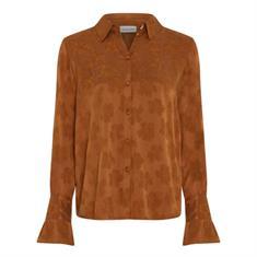 Fabienne chapot Philia tess blouse uni Cognac