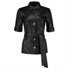 Fifth House Mac belted blouse 9000 Zwart