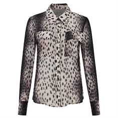 Fifth House Ronni blouse 2710 Zwart dessin