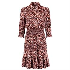Fifth House Soledad dress panther 4063 Abricot