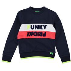Funky xs boy Ub retro sweat Donkerblauw