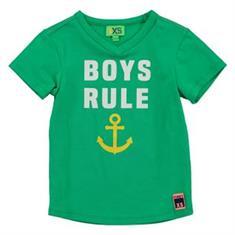 Funky xs boy Ys boys rule tee Groen