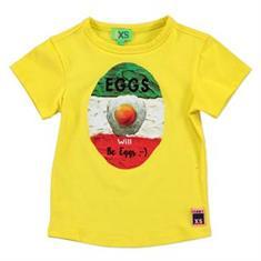 Funky xs boy Ys egg tee Geel