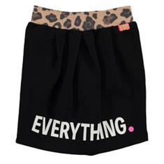 Funky xs gir Bw sweat skirt texting Zwart