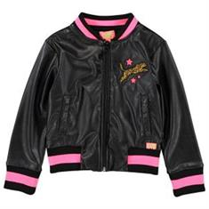 Funky xs gir Gl fake leather jack Zwart