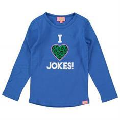 Funky xs gir SS Jokes Tee Kobaltblauw