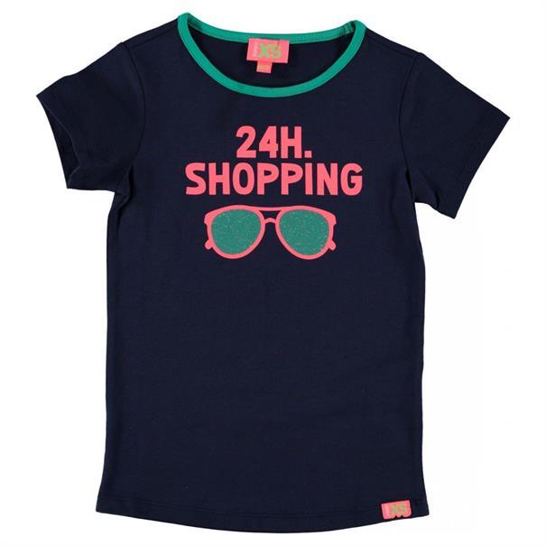 Funky xs girls Cg1 shop tee Donkerblauw
