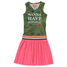 Funky xs girls Cg2 holiday dress Groen