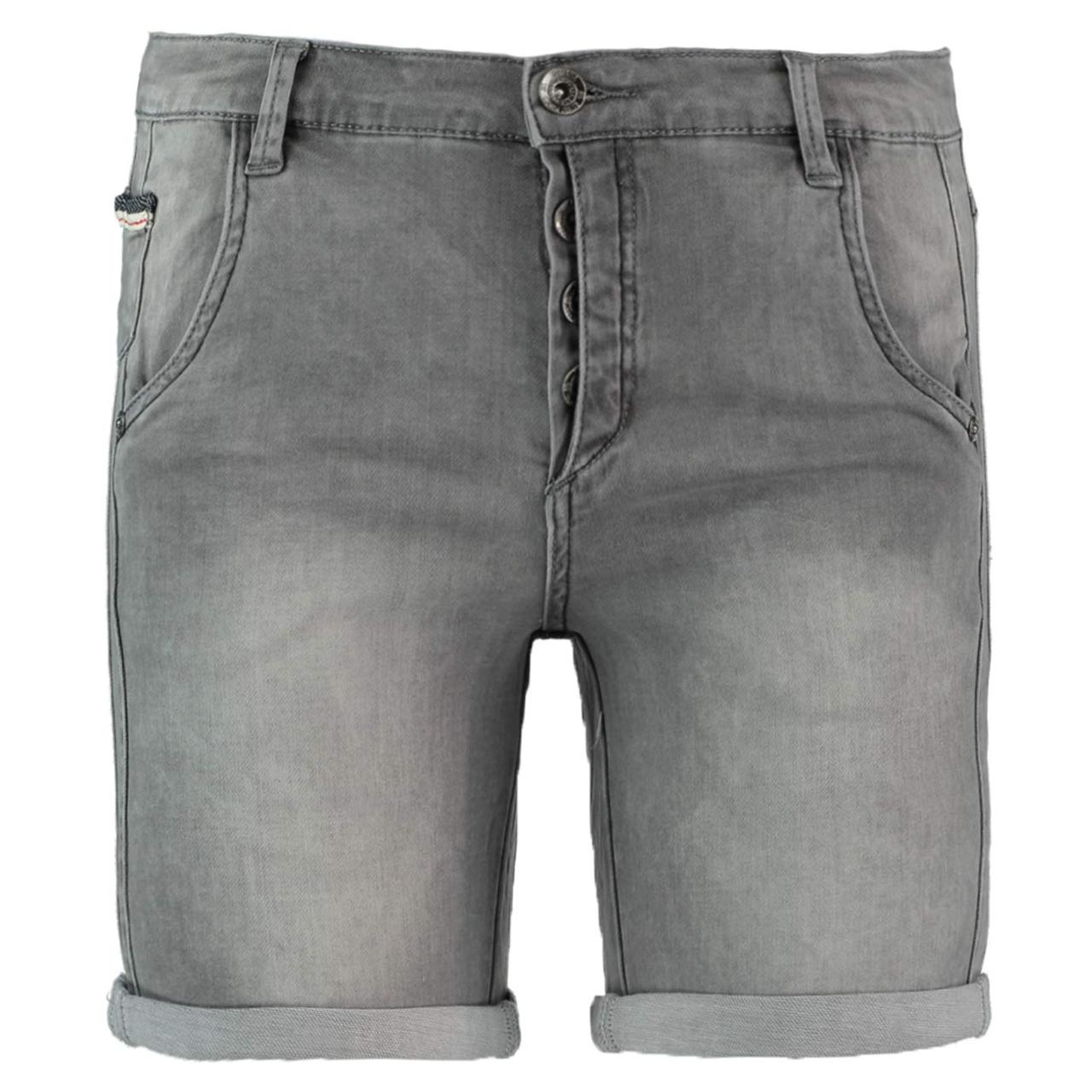 Korte Jeans Broek Dames.Geisha 91035 10 Grijs Korte Broek Broeken Dames Irma Mode