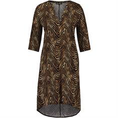 Juul & Belle Tiger vneck dress Zwart