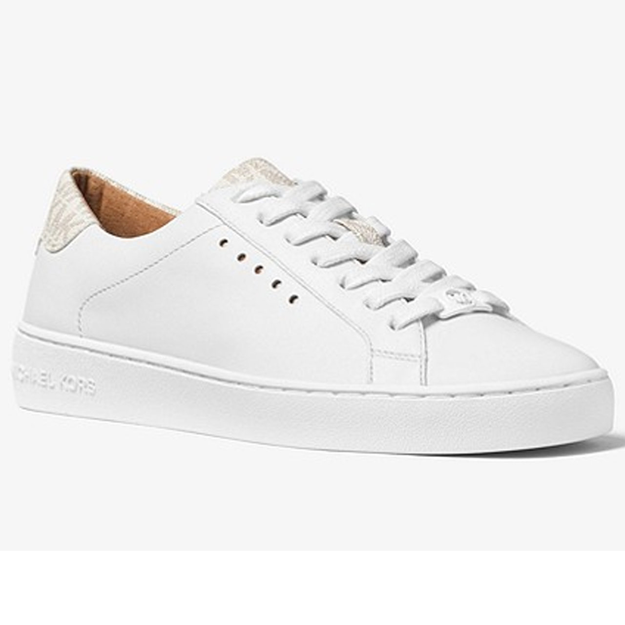 79f07af5480 Michael kors Irving lace up Wit dessin - Sneakers - Schoenen - Irma Mode