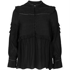 Mos mosh Nita stud blouse Zwart