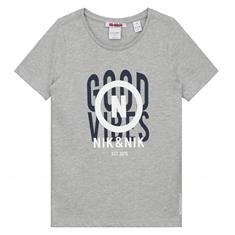 Nik & nik b Lander T-shirt Lichtgrijs