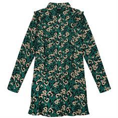 Nik & nik g Ivy logo dress 7009 Groen dessin