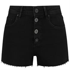 Nikkie Cato denim short solid 9000 Zwart