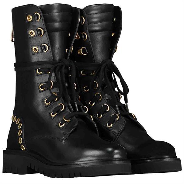 Nikkie Eyelets boots 9000 Zwart