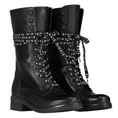 Nikkie High branded lace boots 9000 Zwart