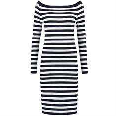 Nikkie Jolie Off Shoulder Dress Blauw dessin