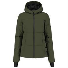 Nikkie Logo chest ski jacket 6935 Donkergroen
