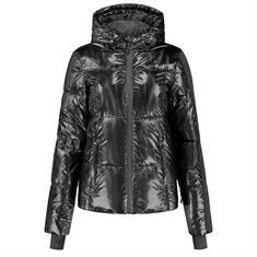 Nikkie Logo holographic ski jacket Zwart