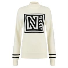 Nikkie Logo patch sweater 2001 Creme