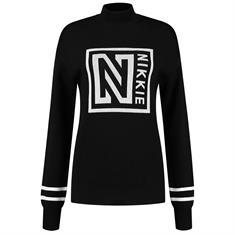 Nikkie Logo patch sweater 9000 Zwart