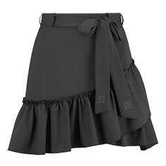 Nikkie Suze ruffle wrap skirt Zwart