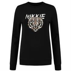 Nikkie tiger sweater 9000 Zwart