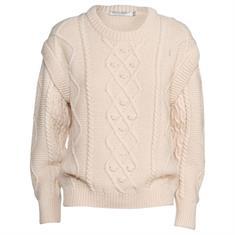 Summum Cable sweater Creme