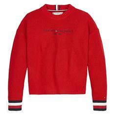 Tommy Hilfiger Girls Xnl essential logo sweat Rood