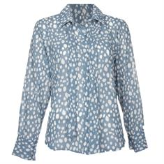 Typical Jill Shelly spot blouse Lichtblauw
