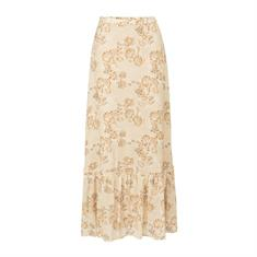 Yaya Printed maxi skirt Zand