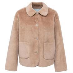 Yaya Short fake fur jacket brown Bruin