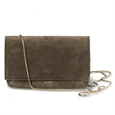 Yaya Suede mini bag Army